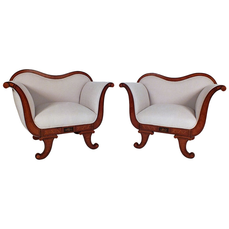 pair of regency style armchairs at 1stdibs