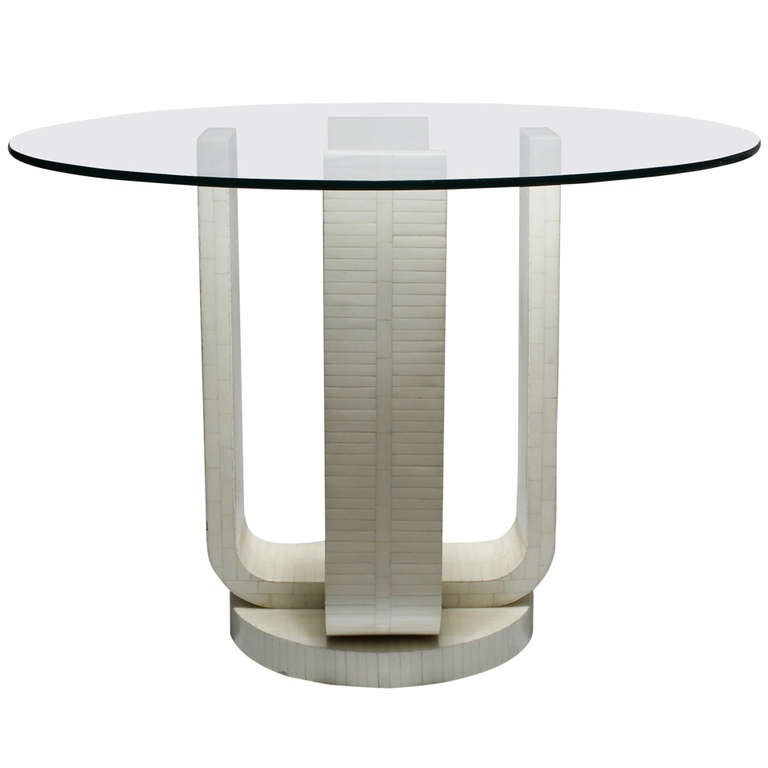 French Deco Style Dinette Table by Enrique Garcez in the Manner of Karl Springer