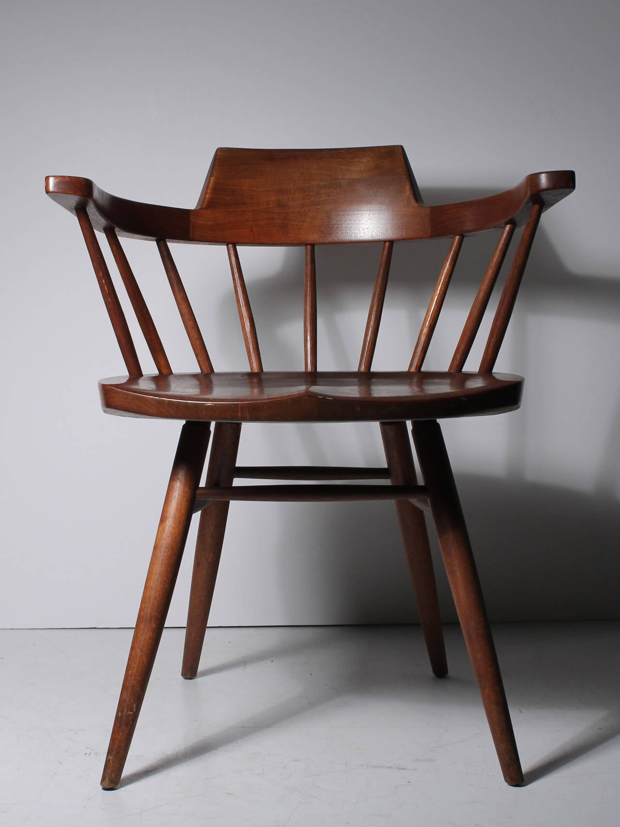 Pair Studio Nakashima Captains Chairs 4 Available For Sale at