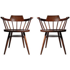 Pair Of Studio Nakashima Captains Chairs (4 Available)