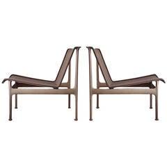 Original Vintage Richard Schultz pair of LOW Lounge Chairs Patio Outdoor Garden