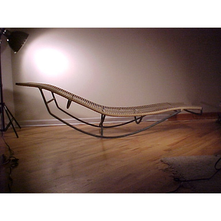 Bronze Walter Lamb Chaise Lounge.