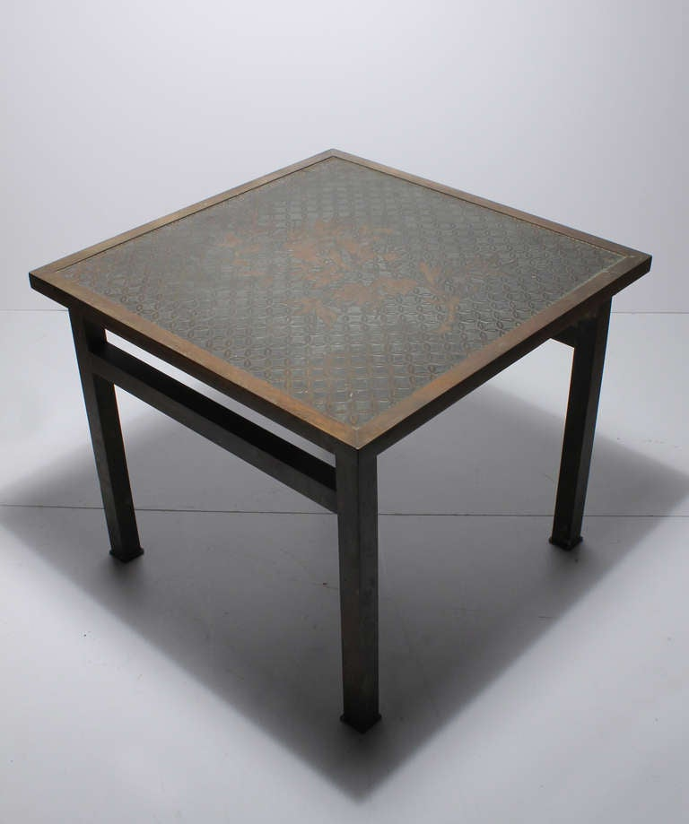 Mid-Century Modern Philip and Kelvin LaVerne Side Table For Sale