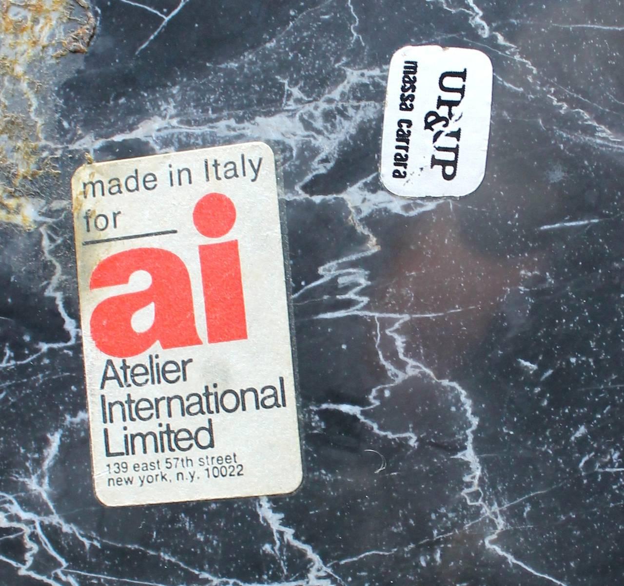 Sergio Asti Black Marble Bowl For Atelier International At 1stdibs