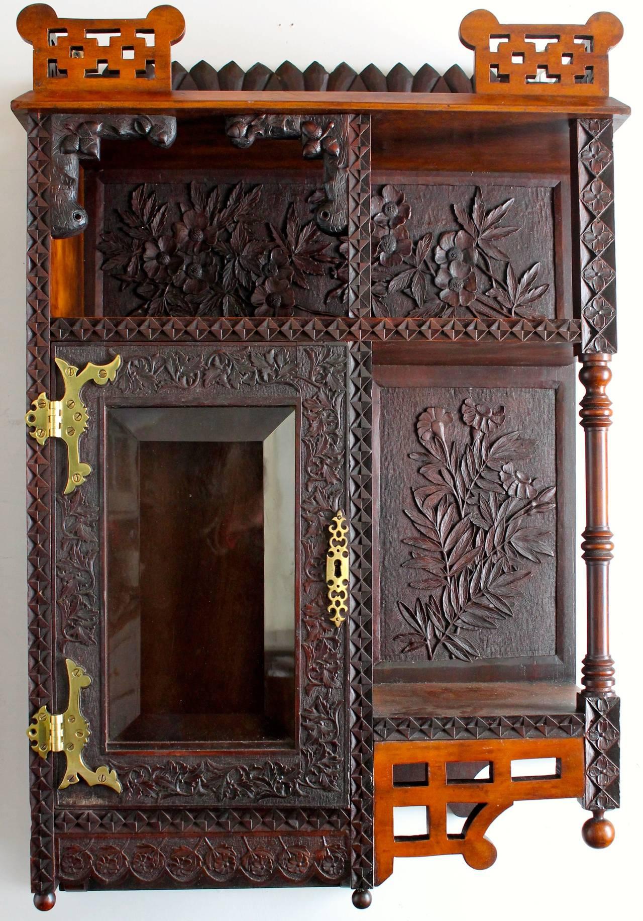 Cincinnati Art Furniture Movement Hanging Cabinet American
