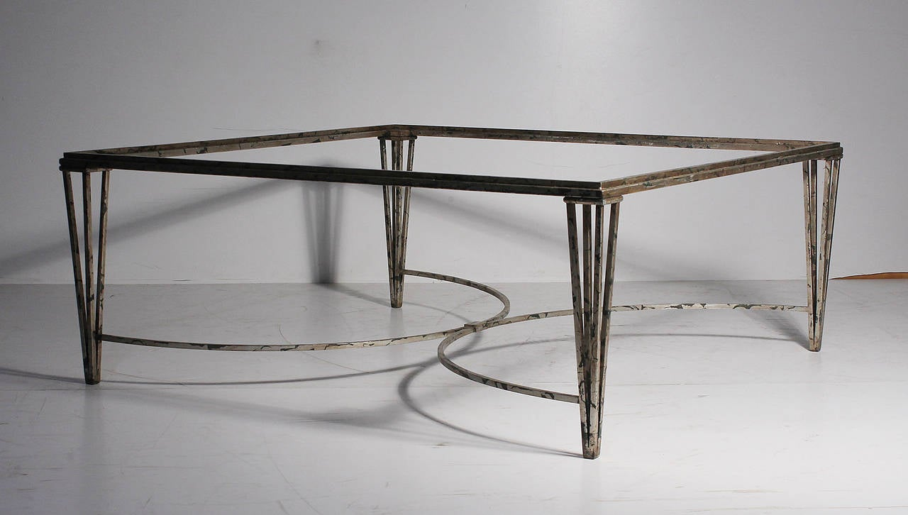 Deco 1940s Style Coffee Table In Manner Of Parzinger For Sale At 1stdibs