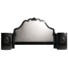 Hollywood Regency Headboard Bed in Manner of Dorothy Draper & Serge Roche