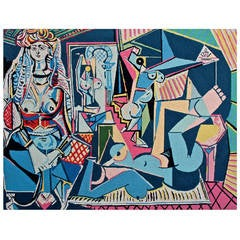 """Pablo Picasso (after) """"Les Femmes D'alger, Version """"O"""" Needle Point Tapestry"""