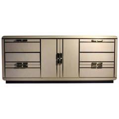 Rom Weber Sideboard Cabinet Credenza style Karl Springer / Milo Baughman
