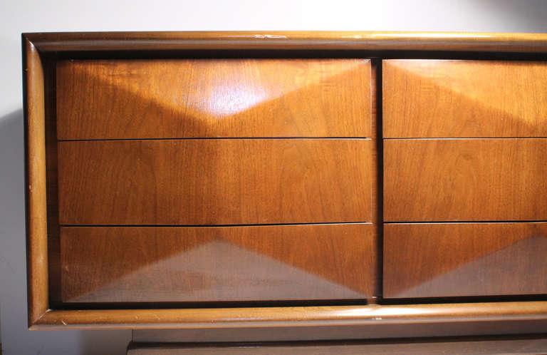 Vintage United Sideboard Diamond Cabinet At 1stdibs