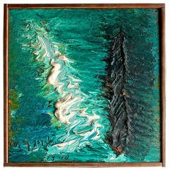 """Rare Small Nanno de Groot """"Wave"""" Painting"""