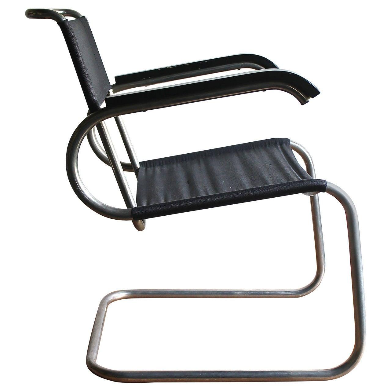 Bauhaus chair breuer - Marcel Breuer B55 Bauhaus Tubular Armchair For Tecta 1