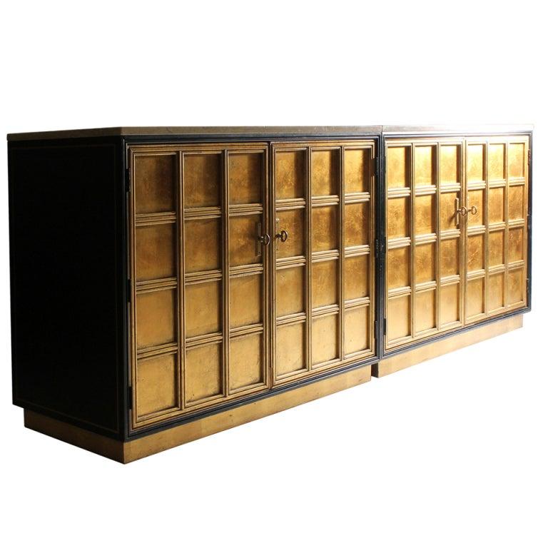 Gold Leaf Dresser Cabinets in Gold Leaf