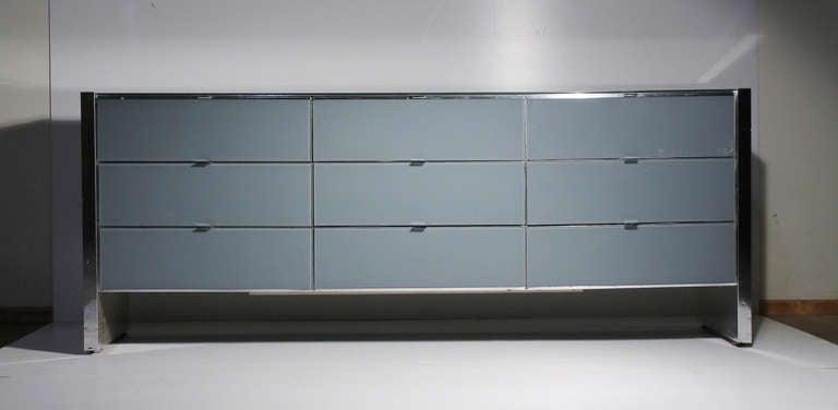 Ello Chrome Dresser Sideboard Cabinet Milo Baughman