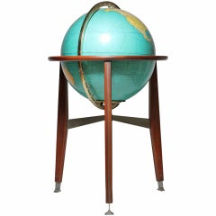 Illuminated Globe Lamp attributed to Edward Wormley Dunbar