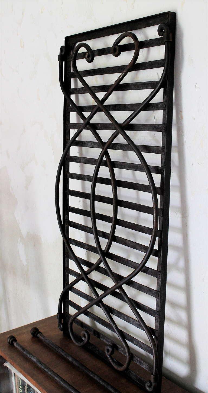 Salterini wrought iron and glass folding coffee table for Wrought iron and glass coffee table