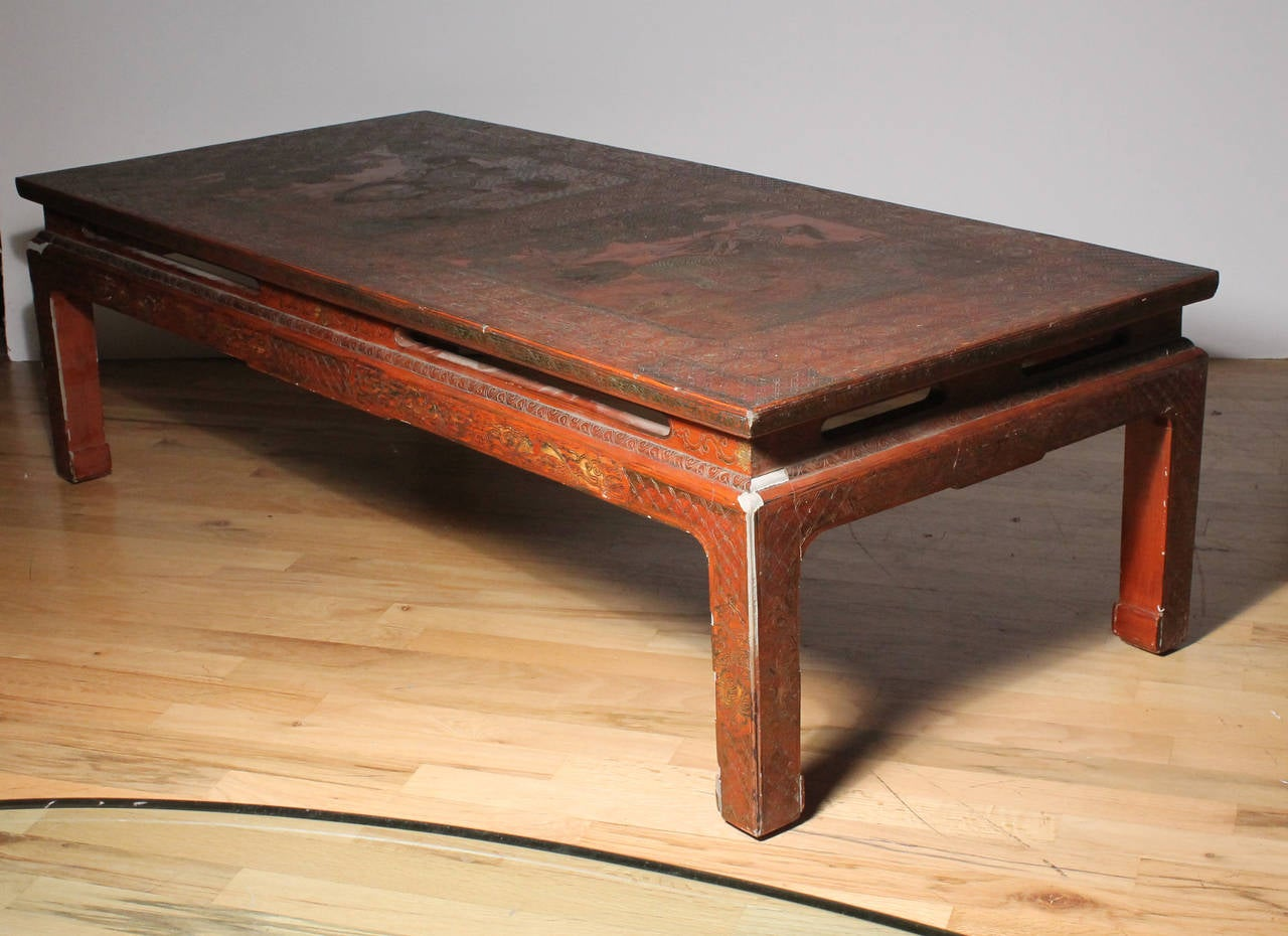 French Coffee Table In Max Kuehne Manner Asian Chinese Chinoiserie Style For Sale At 1stdibs