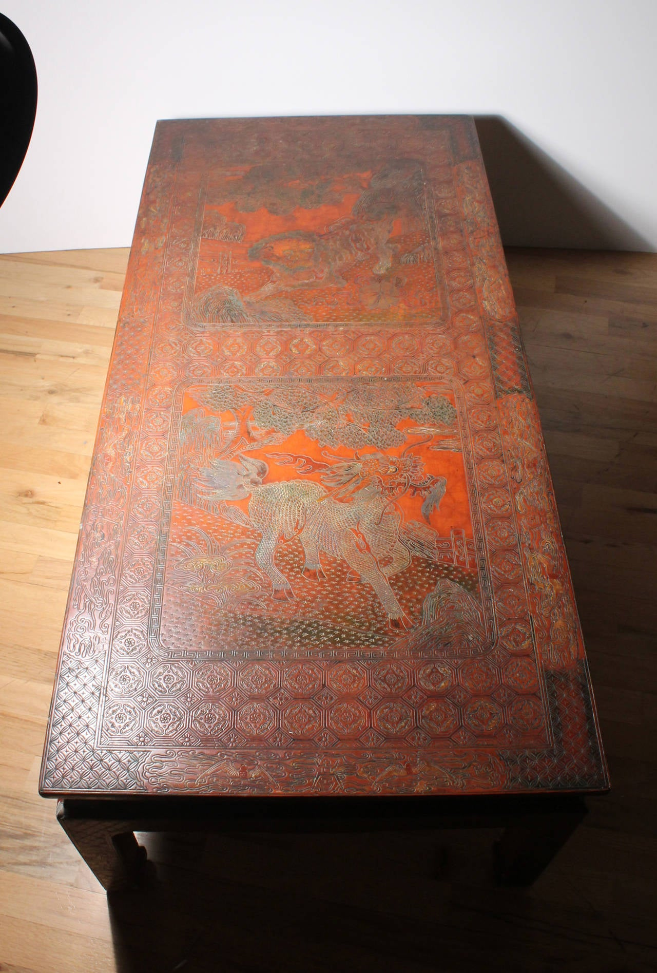 French Coffee Table in Max Kuehne Manner Asian Chinese