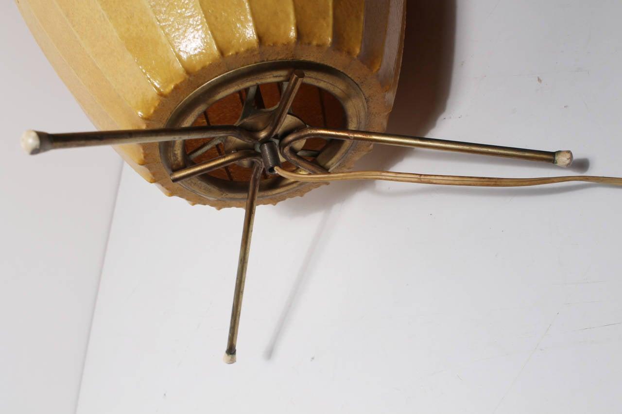 Scarce george nelson cigar bubble floor lamp rare brass for Nelson floor lamp antique brass