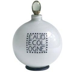Andre Groult Enameled Glass Eau de Cologne Bottle for D'Orsay