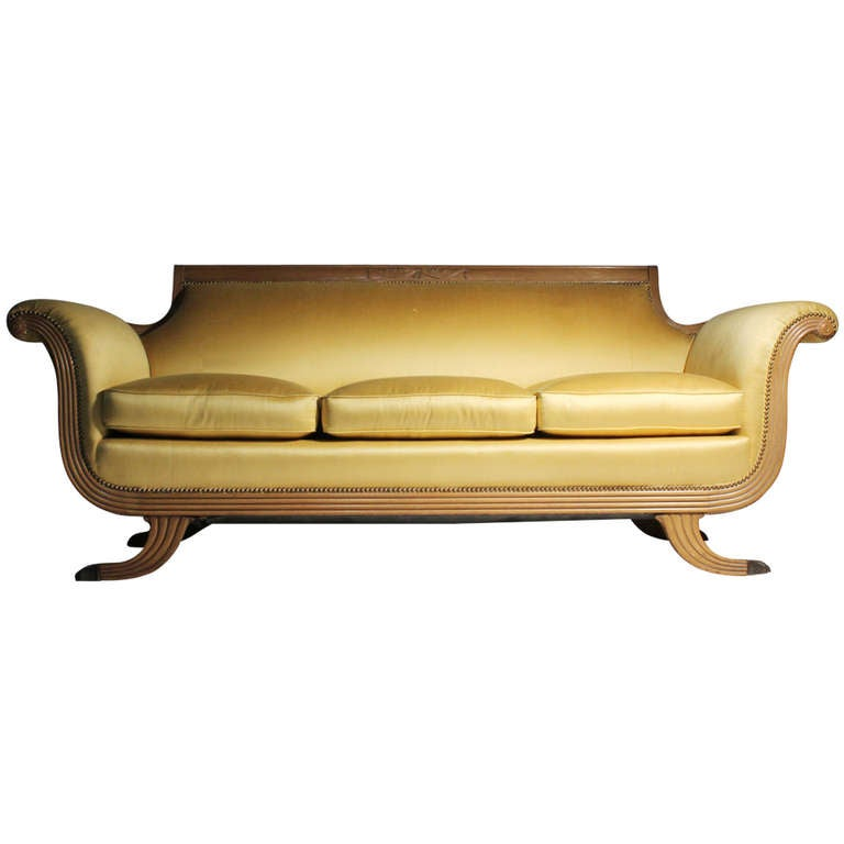 20th Century Duncan Phyfe Empire Neoclassical Victorian Style Sofa At 1stdibs
