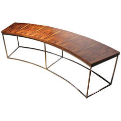 Milo Baughman Rosewood Curve Sofa or Console Table