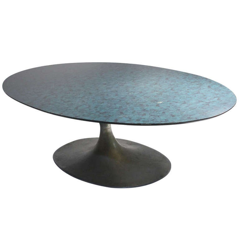 Maurice Burke Arkana Coffee Table In The Style Of Eero Saarinen Surfboard For Sale At 1stdibs
