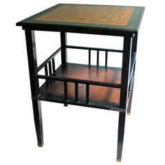 A & H Lejambre American Aesthetic Movement Tiered Square Table