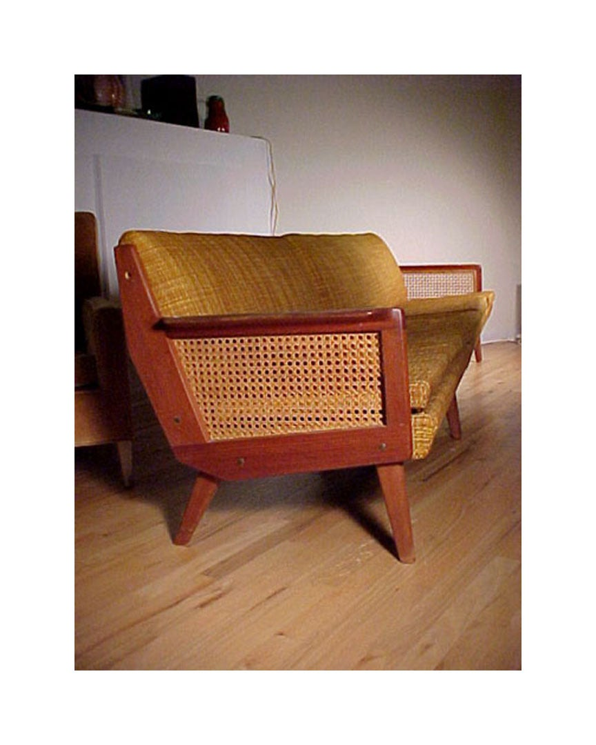 Danish Modern L Sofa in Style of Milo Baughman For Sale at 1stdibs