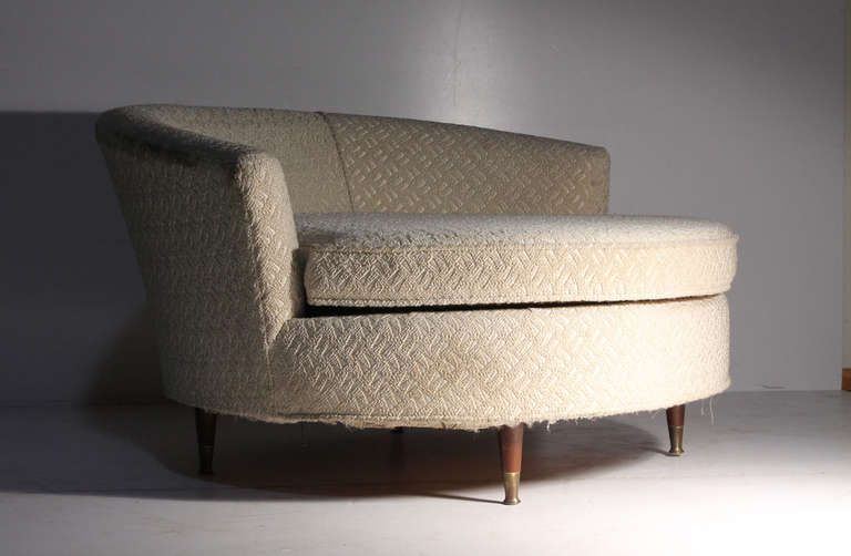 Oversized Vintage Milo Baughman style Ufo Sofa Chair For