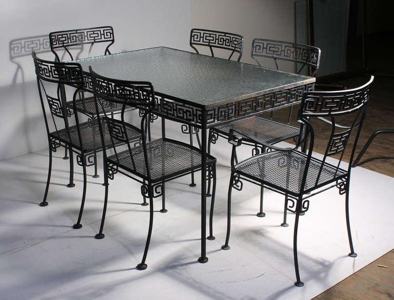 salterini outdoor furniture. greek key patio garden neoclassical dinette set style salterini parzinger 2 outdoor furniture e