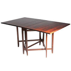 Danish modern Rosewood gate leg dinette table style of Bruno Mathsson