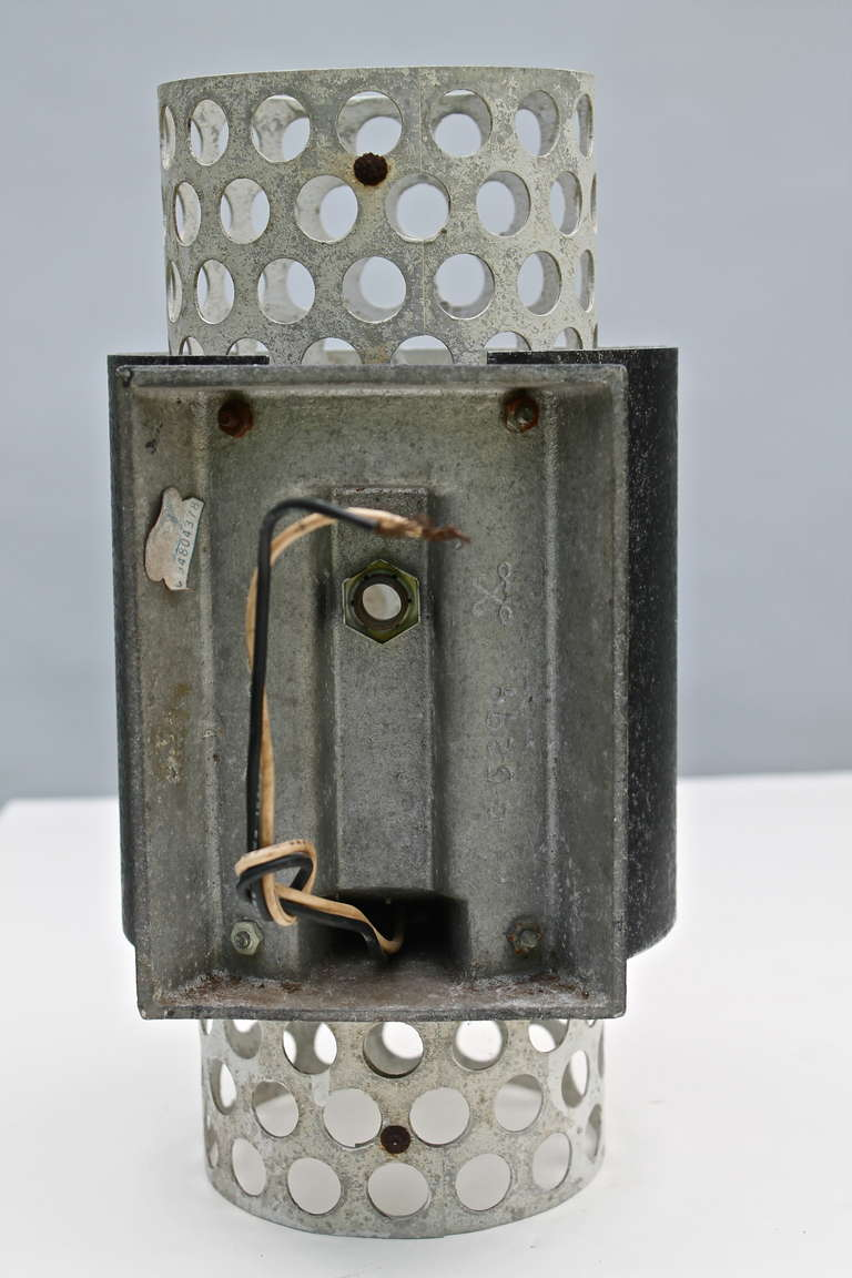 Lightoiler 50 s Perforated Metal Wall Sconce at 1stdibs