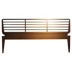 Rare Harold Schwartz Headboard Bed for Romweber in Style of Gio Ponti