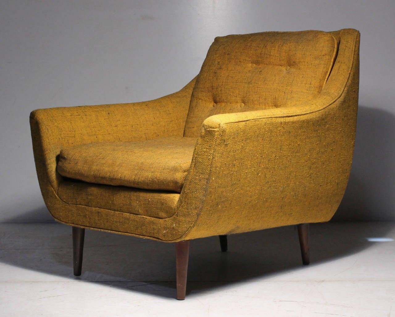 Danish Modern Vintage Lounge Chair Attrib Selig Milo