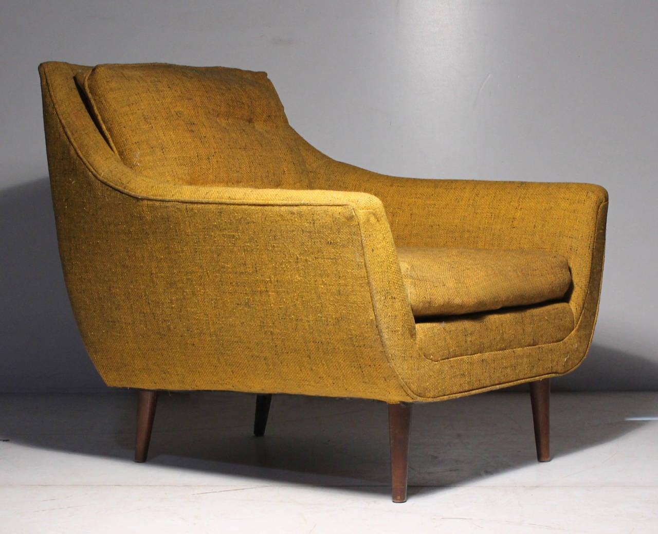Danish Modern Vintage Lounge Chair Attrib Selig Milo Baughman   Adrian  Pearsall 2Danish Modern Vintage Lounge Chair Attrib Selig Milo Baughman  . Modern Yellow Lounge Chair. Home Design Ideas