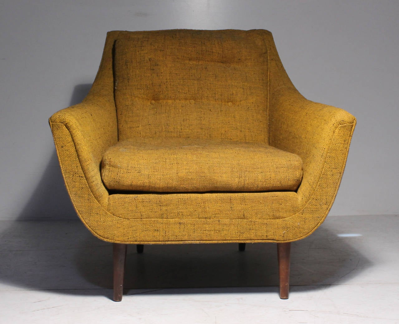 Danish Modern Vintage Lounge Chair Attrib Selig Milo Baughman Adrian Pearsa
