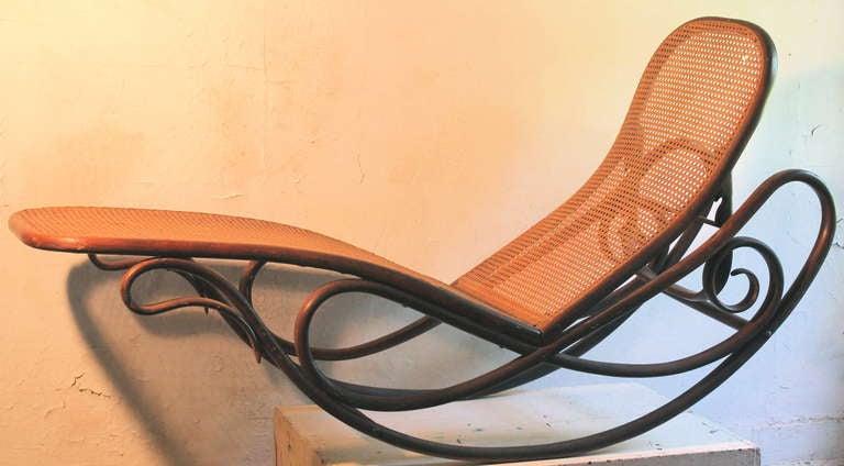 Gebruder Thonet Bentwood Rocking Chaise Longue 7500 1880