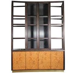 Edward Wormley Dunbar china Cabinet Sideboard with removable hutch baughman