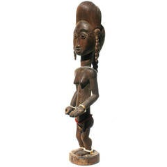 Baule Female Carved Wood Figure, African Sculpture Sotheby's Provenance