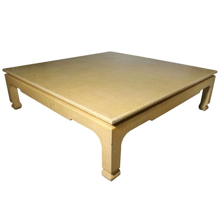 Monumental Harrison Van Horn Coffee Table Manner Of Karl Springer At 1stdibs