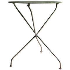 19th Century French Steel Folding Bistro Table