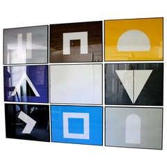 "David Roth ""Negative Archetypes"" Set of 9 screen prints"