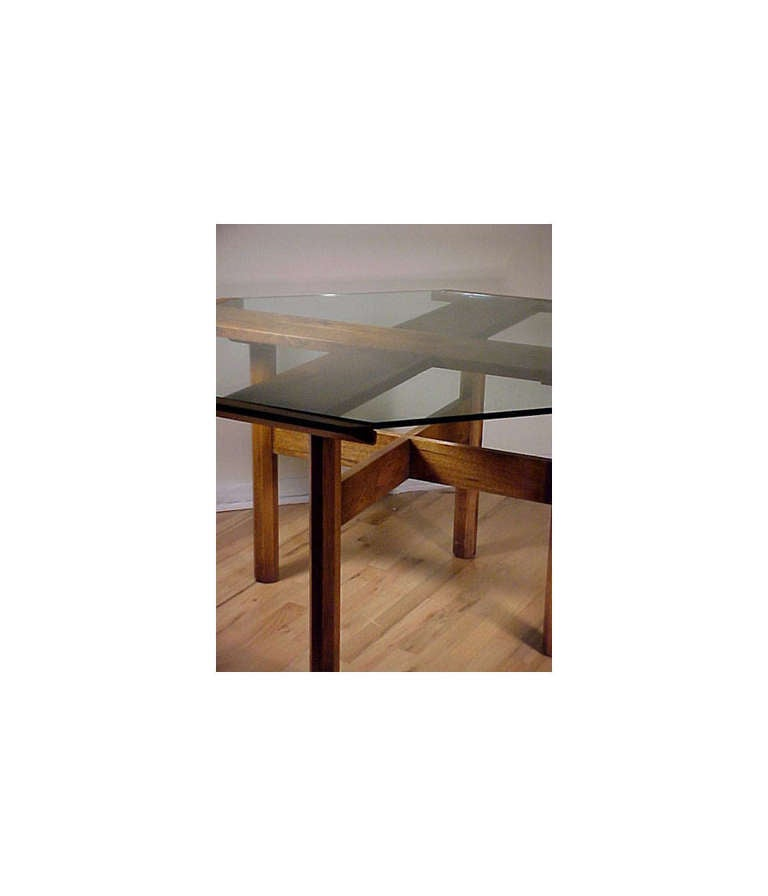 Danish modern dining table in style of milo baughman for for New style dining table