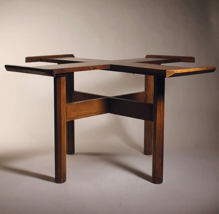 Danish modern Dining Table in style of milo baughman For
