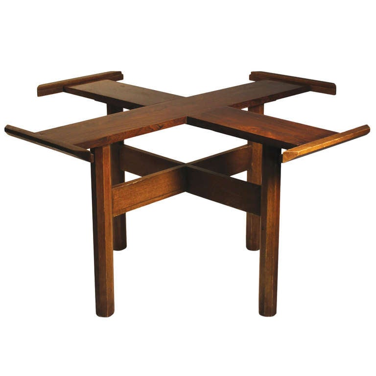 Danish Modern Dining Table In Style Of Milo Baughman For Sale At
