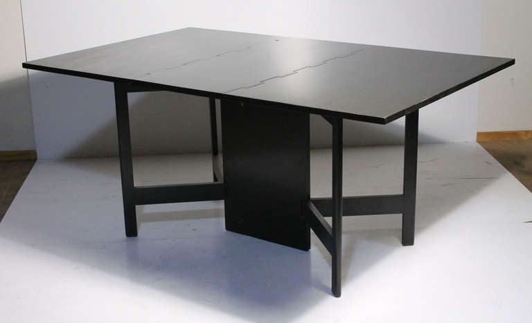 George Nelson Herman Miller Drop Leaf Gate Leg Dining Table Or Desk At 1stdibs
