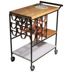 Arthur Umanoff Raymor Serving Bar Cart