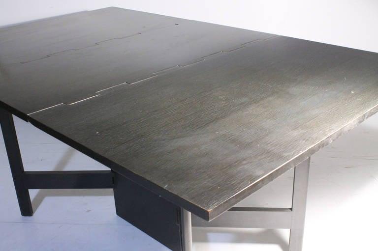 George Nelson Herman Miller Drop Leaf Gate Leg Dining Table or Desk For Sale 1