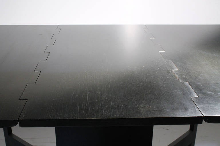 George Nelson Herman Miller Drop Leaf Gate Leg Dining Table or Desk In Good Condition For Sale In Chicago, IL
